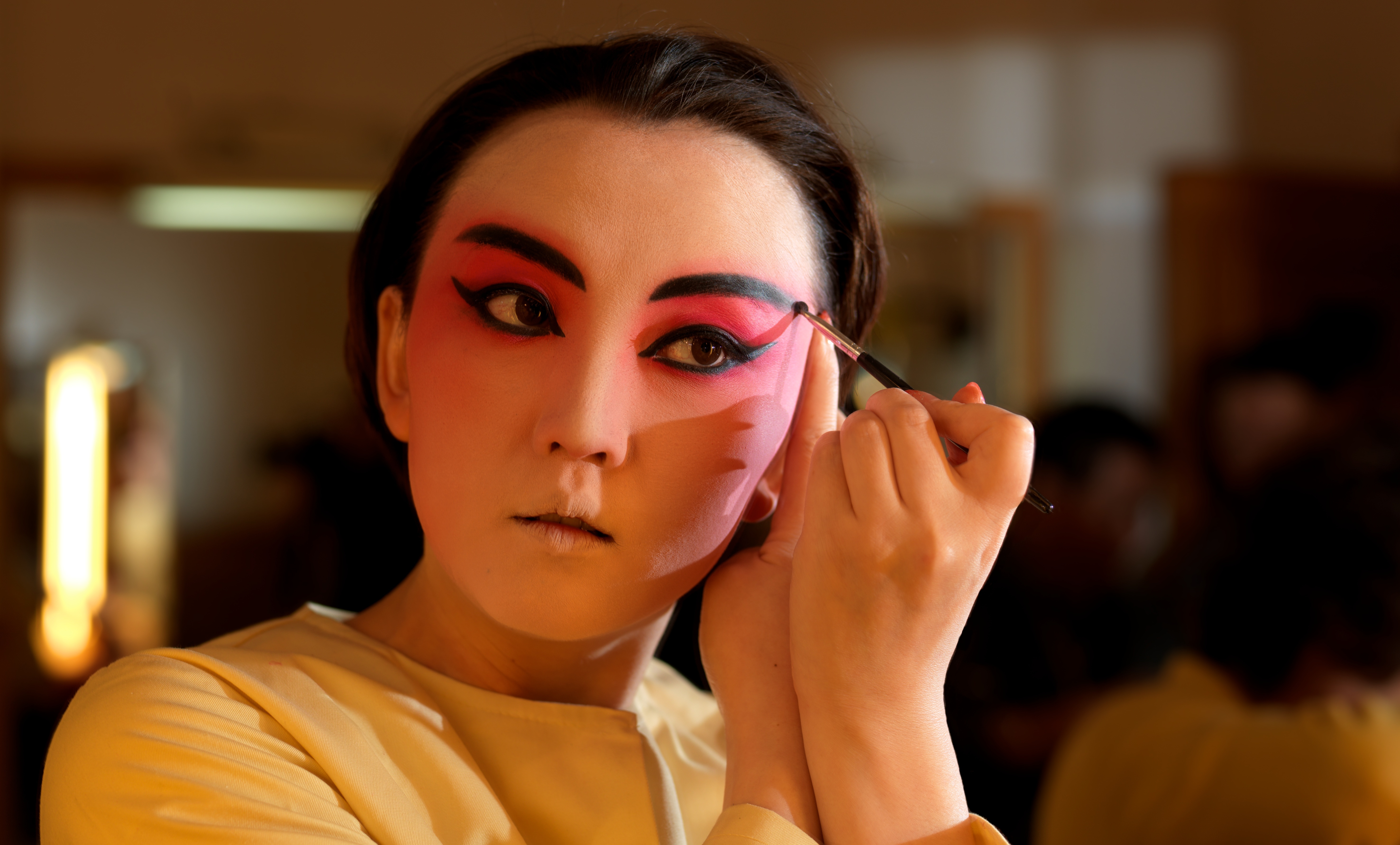 Back stage the Peking Opera